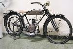 Etelä-Ruotsissa sijaitseva Laganin automuseo, harvinaisin pyörä oli tämä ruotsalainen Rex-kevytmoottoripyörä.