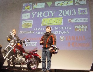 Helsingin moottoripyörämessut 31.1-2.2.2003. Kuva (c) 2003 Santtu Ahonen